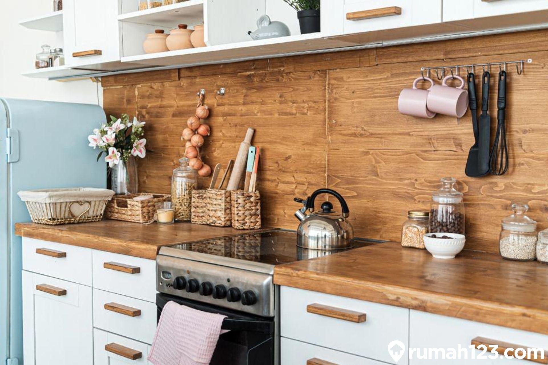 11 Inspirasi Keramik Dinding Dapur Kekinian Untuk Hunian Minimalis Rumah123 Com Warna keramik dinding dapur rumah