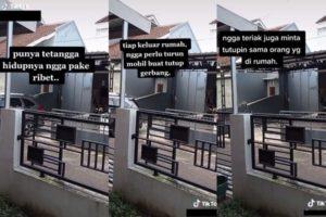 Viral Contoh Tetangga Pintar, Pakai Pagar Otomatis Anti Ngerepotin!